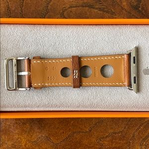 Hermes Accessories - Hermès Apple Watch Fauve Rallye leather band 44mm